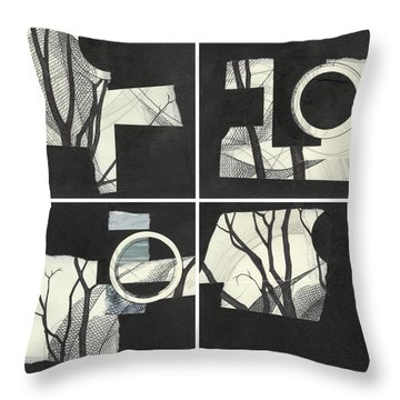 Torn Beauty No. 3 Throw Pillow