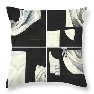 Torn Beauty No. 4 Throw Pillow