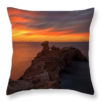 Total Calm At A Sunrise In Ibiza Throw Pillow