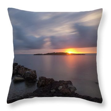 Total Calm In An Ibiza Sunrise Throw Pillow