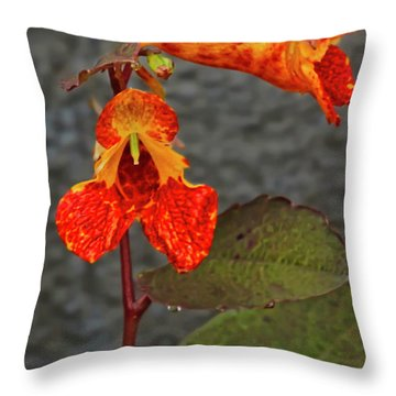 Touch Me Nots Throw Pillow
