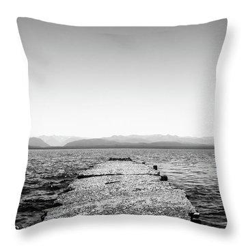 Towards The Nahuel Huapi Lake Throw Pillow