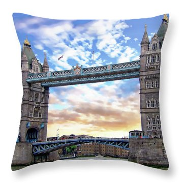 Throw Pillow featuring the photograph Tower Bridge by Anthony Dezenzio