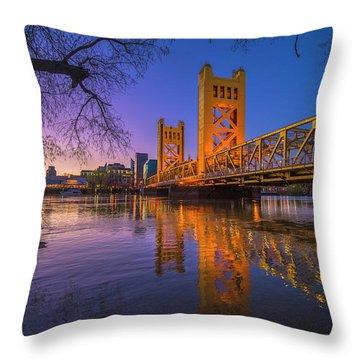 Tower Bridge At Sunrise - 4 Throw Pillow