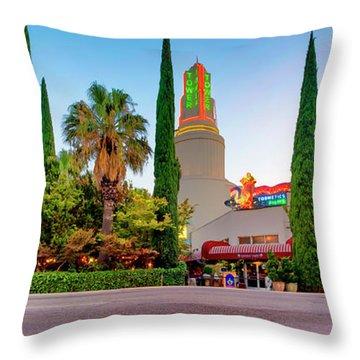 Tower Cafe Dusk- Throw Pillow