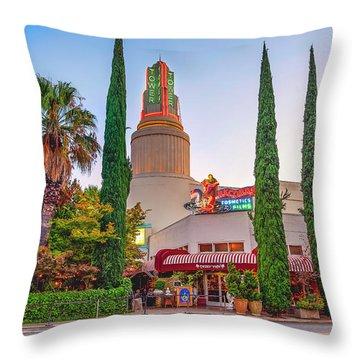 Tower Cafe Sunset- Throw Pillow