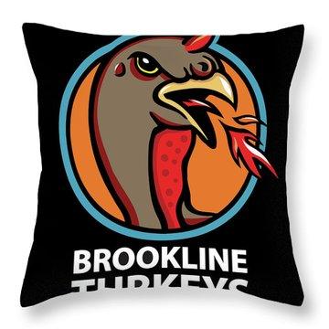 Town Mascot Throw Pillow