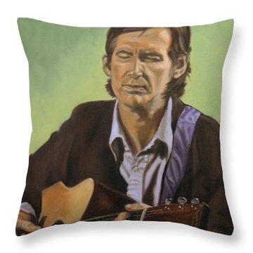 Townes Van Zandt Throw Pillow