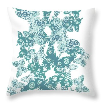 Traces Of Patterned Beauty Throw Pillow