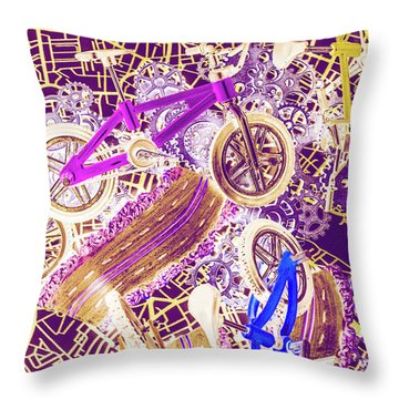 Tracks And Tires Throw Pillow