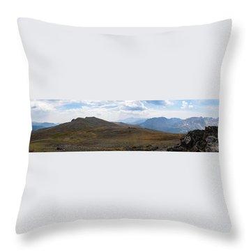 Trail Ridge Road Arctic Panorama Throw Pillow