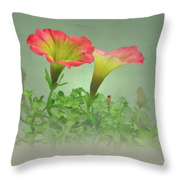 Trailing Petunia Throw Pillow