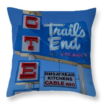 Trail's End Motel Throw Pillow