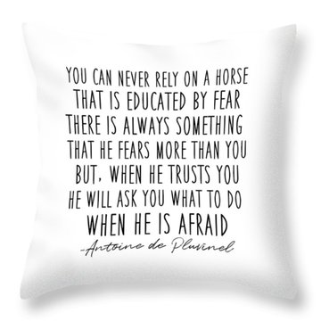Train In Trust Quote Throw Pillow