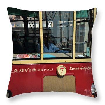 Tram Naples Throw Pillow