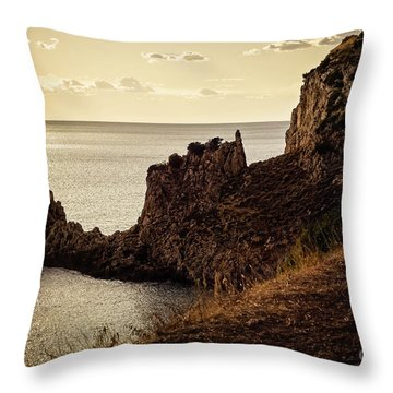 Tranquil Mediterranean Sunset    Throw Pillow