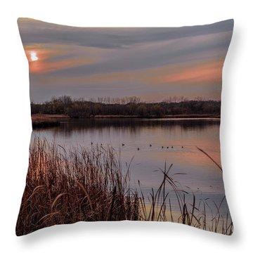 Tranquil Sunset Throw Pillow