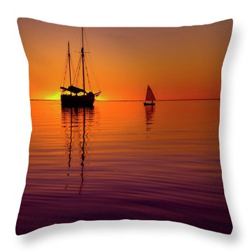 Tranquility Bay Throw Pillow