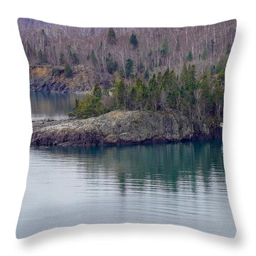 Tranquility In Silver Bay Throw Pillow