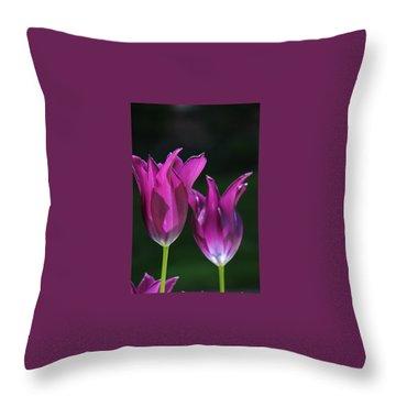 Translucent Tulips Throw Pillow