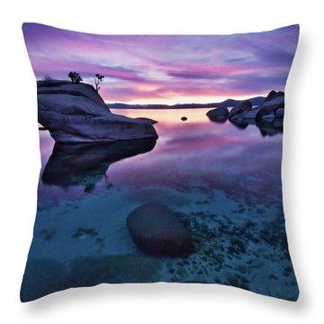 Transparent Sunset Throw Pillow