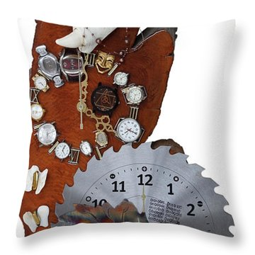 Trapped In The Fourth Dimension Throw Pillow