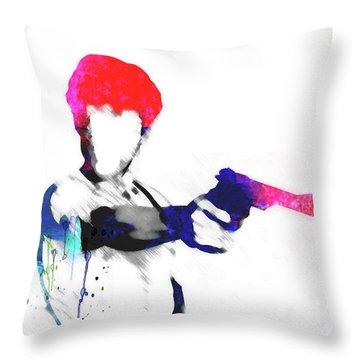 Travis Watercolor Throw Pillow