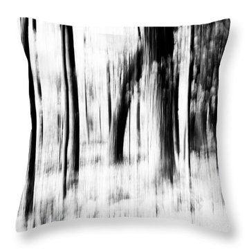 Throw Pillow featuring the photograph Tree Abstract In Black And White by Angie Tirado