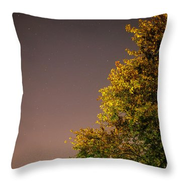 Tree And Stars Throw Pillow