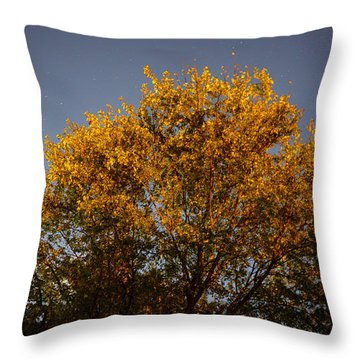 Tree And Stars Wide Throw Pillow