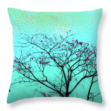 Tree And Water 1 Throw Pillow