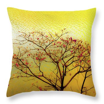 Tree And Water 2 Throw Pillow