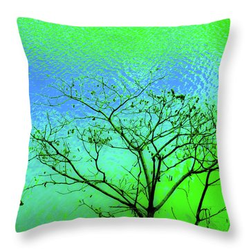 Tree And Water 3 Throw Pillow