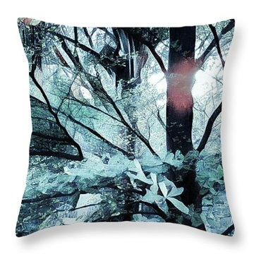 Tree Of Glass Throw Pillow