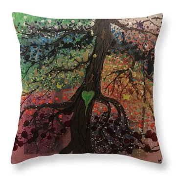Tree Of Life Chakra Tree Throw Pillow