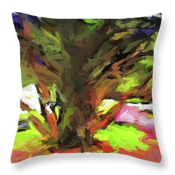 Tree With The Open Arms Throw Pillow