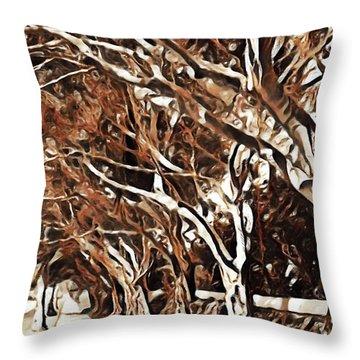 Treelined Throw Pillow