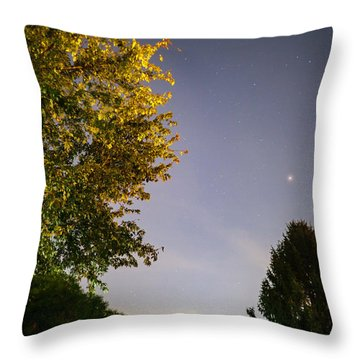 Trees And Stars Throw Pillow