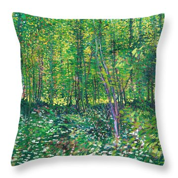 Trees And Undergrowth - Digital Remastered Edition Throw Pillow