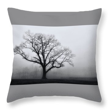 Trees In Fog # 2 Throw Pillow
