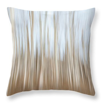 Trees On The Move Throw Pillow