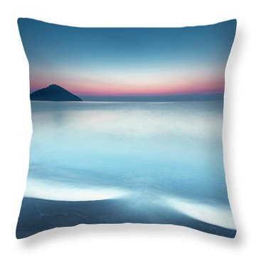Triangle Island Throw Pillow