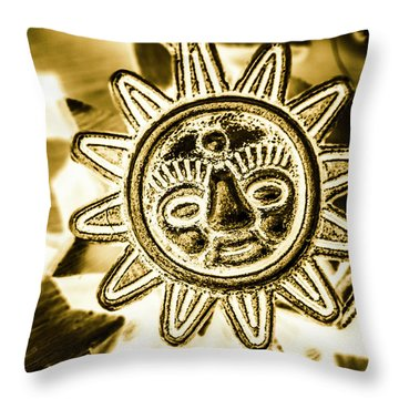 Tribal Suns  Throw Pillow