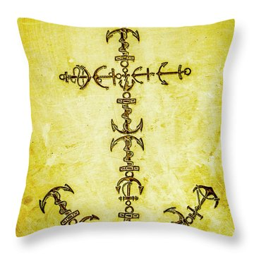 Tribal Waters Throw Pillow