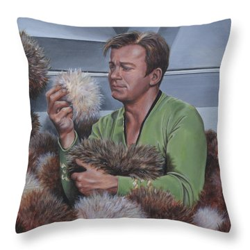 Tribble Trouble Throw Pillow