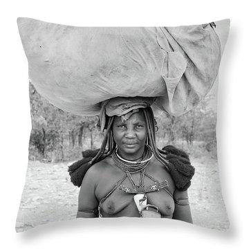 Tribes Portrait Throw Pillow
