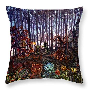 Trick Or Treat Sleepy Hollow Throw Pillow