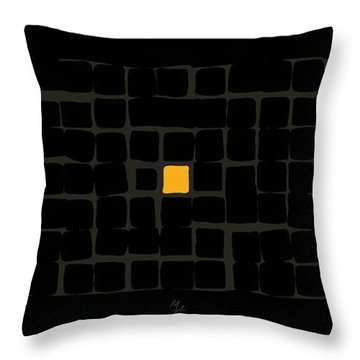 Throw Pillow featuring the digital art Tricolor In Black by Attila Meszlenyi