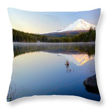 Trillium At Dawn Throw Pillow