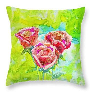 Trio Of Roses Throw Pillow